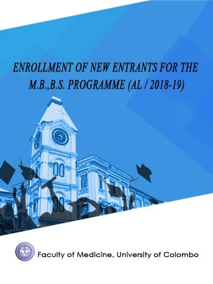 Enrollment of new entrants for academic year – AL/2018-19