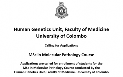 MSc in Molecular Pathology Course