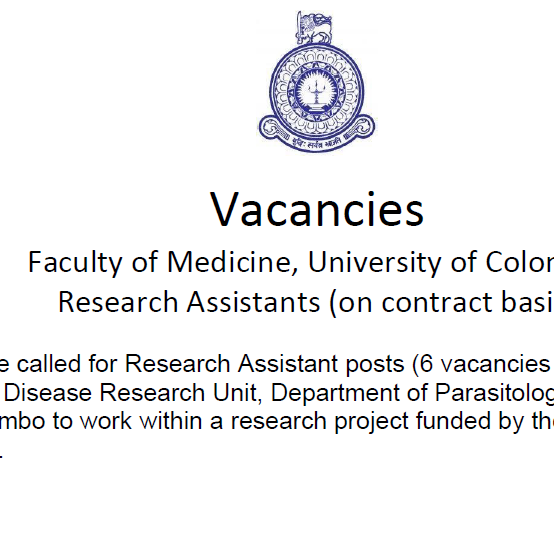 Post of Research Assistants (on contract basis)