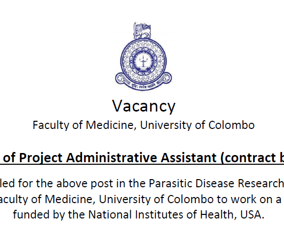Post of Project Administrative Assistant (contract basis)