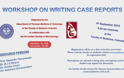 Workshop on Writing Case Reports
