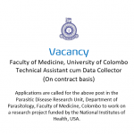 Post of Technical Assistant cum Data Collector