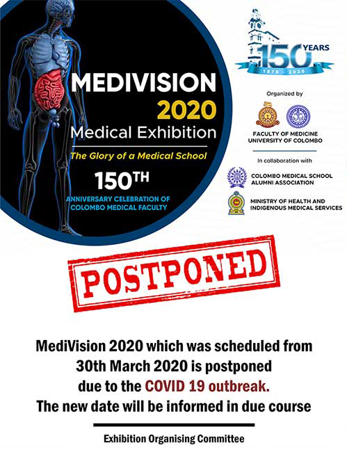 Postponement of the Medivision 2020 Medical Exhibition