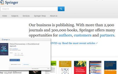 Free E-Books from Springer Publishing