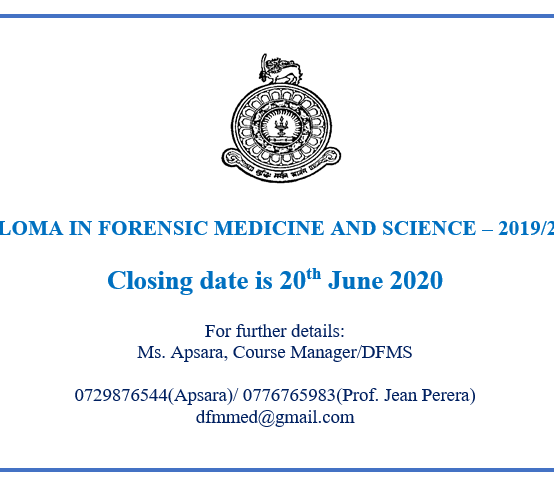 Diploma in Forensic Medicine & Science