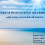 Lets Maintain our Psychological Wellbeing During these Times